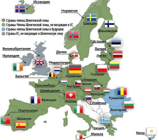 Страны Шенгена: для любителей поездок по Европе