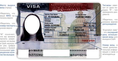 Вот так выглядит гостевая виза в США