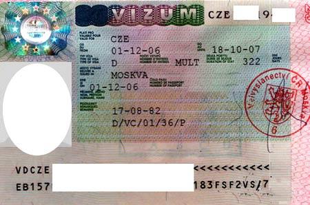 Рабочая виза в Чехию для россиян и граждан Украины: оформление